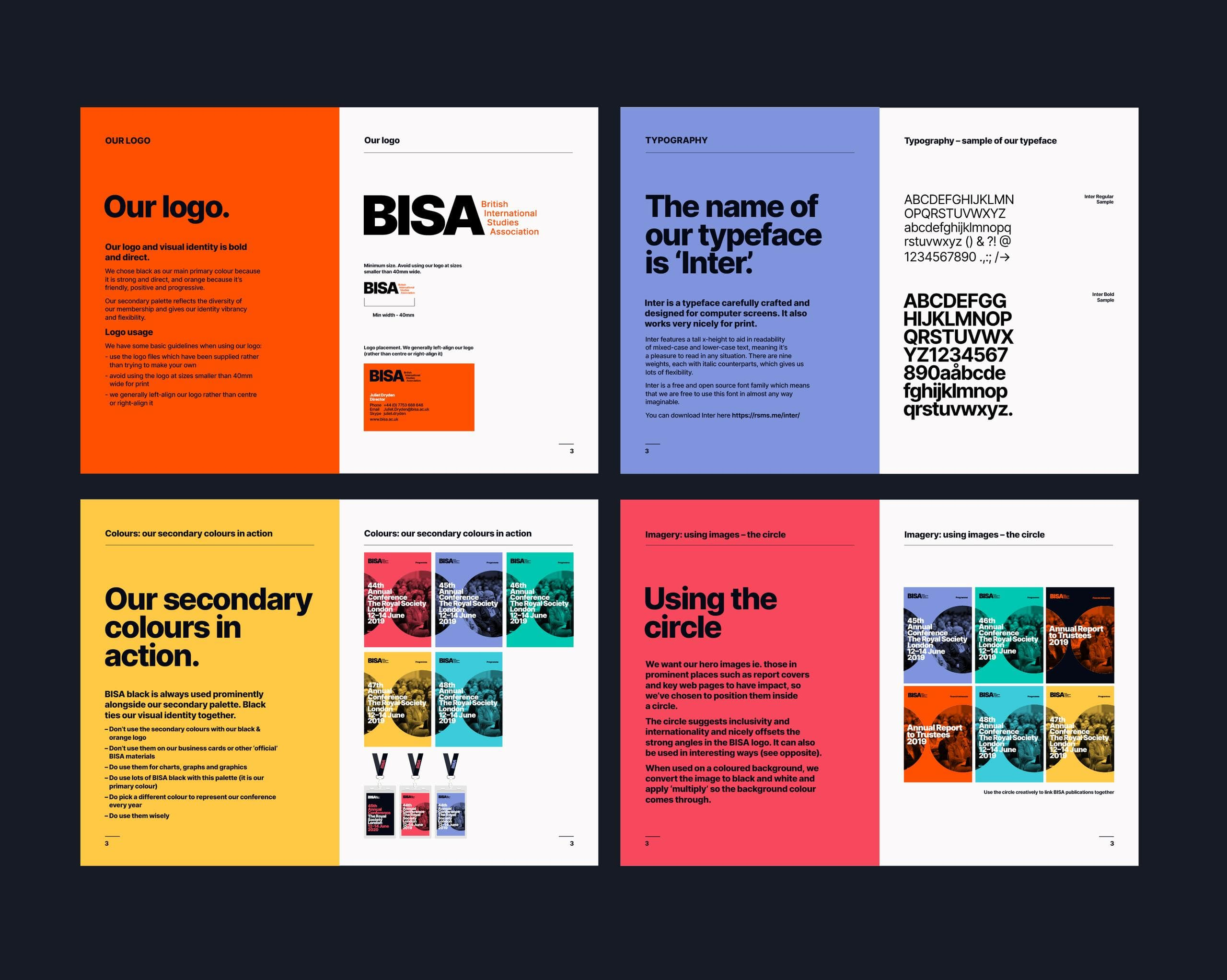 Some pages from the new brand guidelines