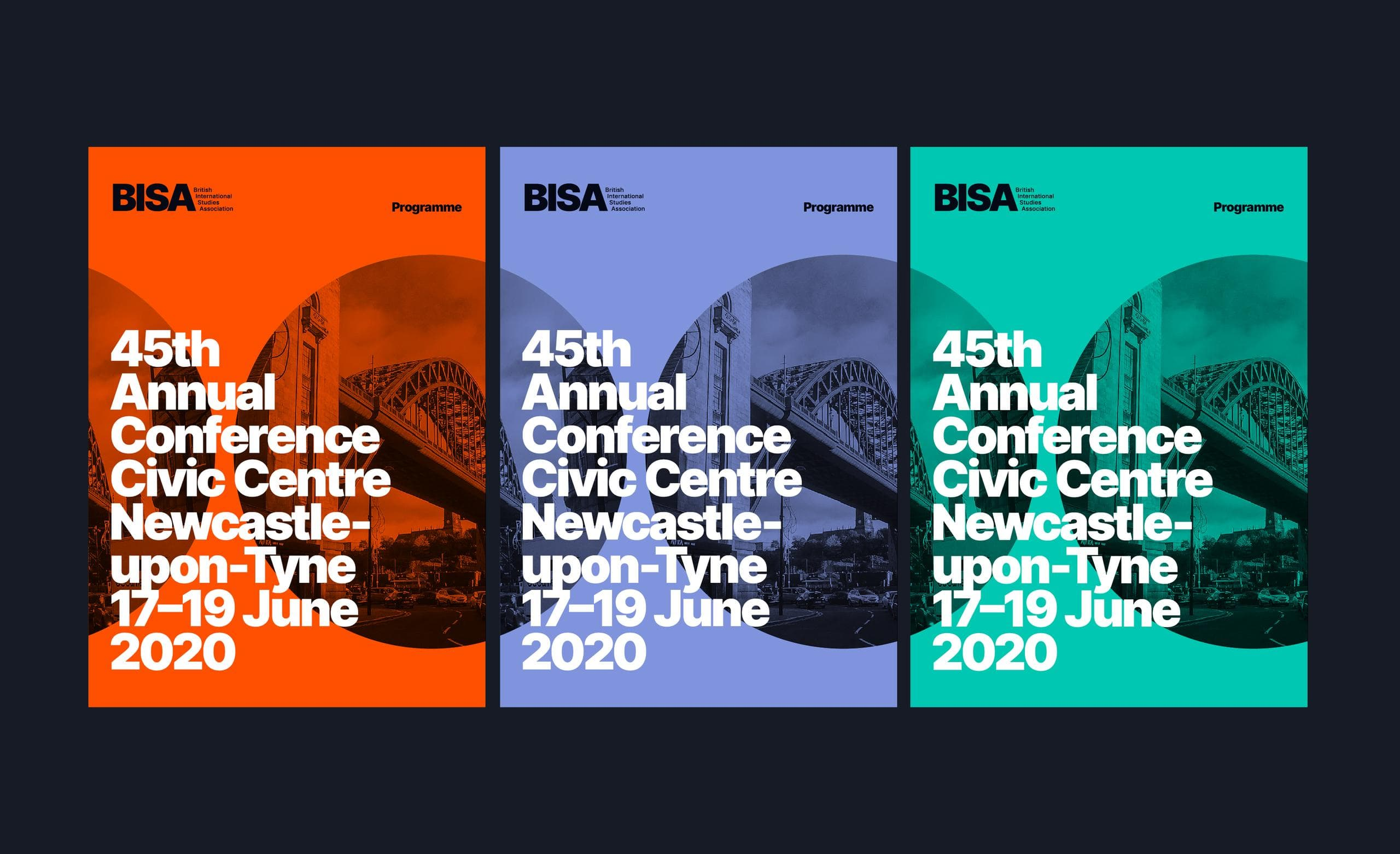 BISA conference programme covers in different colours